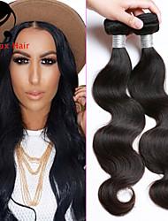 4bundles color natural de la onda del cuerpo del pelo brasileño 8-26inch cabello humano virginal teje