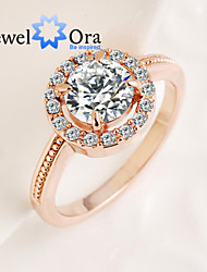 New Fashion Noble Aolly CZ Stone Band Ring For Woman&Lady