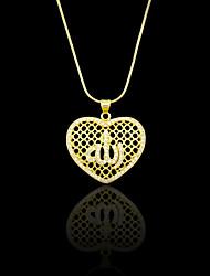 Pendentifs Métallique / Strass Heart Shape comme image 1