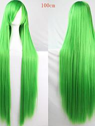 Fashion Color Cartoon Wig 100 CM Long Green Hair Wigs