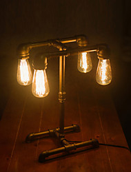 Loft American Industrial Style Pipe Desk Lamp Table Light Edison Light Source For Study Working-FJ-DT2X1-030A0