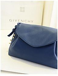 Women PU Sling Bag Shoulder Bag - Blue / Red / Black