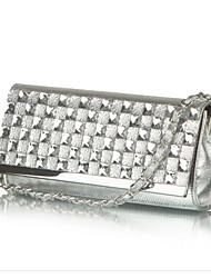 Women PU Sling Bag Shoulder Bag - Gold / Silver / Black