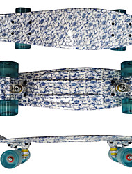PP Plastic Skateboard (22 Inch) Cruiser Board White&Blue Color
