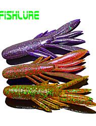 """Isco Suave / Conjuntos de Isco 7 g / 1/10 / 1/4 Onça , 80 mm / 2-5/8"""" / 3-1/4"""" polegada 8pcs/lot pcsPesca de Mar / Pesca Voadora / Isco"""