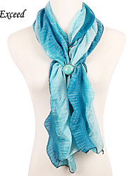 D Exceed Fashion Polyester Scarf Women Gril Blue Print Voile Scarf Turquoise Bead Winter Brand Scarves Soft Shawl