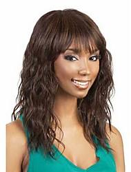 venta caliente señora de las mujeres marrones pelucas onda color de pelo sintéticos a africano