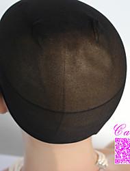 2pcs Black Unisex elastic wig caps for making wigs glueless hair net Wig Liner Cap Snood Nylon Stretch Mesh