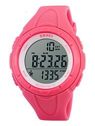SKMEI Женские Спортивные часы электронные часы LCD Календарь Секундомер Защита от влаги тревога Спортивные часы Цифровой Pезина Группа