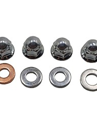 4 Set/ Lot 6MM Universal Dirt Pit Bike ATV Fixing Bolt Nuts