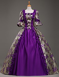 Steampunk®TOP SALE Purple Long Sleeves Victorian Dress Royal Party School Style Long Prom Dresses
