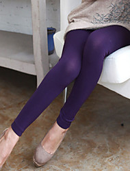 Women Casual Slim Stretchy Autumn Warm Fleece Lined Ninth Pants Leggings Pantyhose