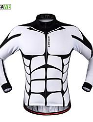 Wosawe® Fahrradtrikot Unisex Langärmelige Fahhrad Atmungsaktiv / Reflexstreiffen / Tasche auf der Rückseite / Schweißableitend