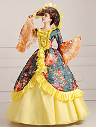Steampunk®Georgian Yellow Victorian Party Dress Marie Antoinette Wholesalelolita Rococo Princess Evening Dress