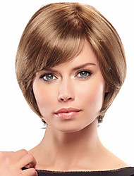 Exquisite Elegant  Remy Human Hair Hand Tied -Top Short  Straight Woman's Wig