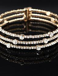 Bracelet Charmes pour Bracelets / Bracelets Rigides / Bracelets de tennis / Bracelets Wrap Alliage / Strass Mariage / Soirée Bijoux Cadeau