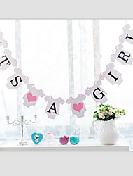I T'S  A BOY GIRL Baby Shower with Ribbon Gender Reveal Party Banner Bunting Birthday Decor