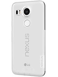Для Кейс для LG Прозрачный Кейс для Задняя крышка Кейс для Один цвет Мягкий TPU LG LG Nexus 5X