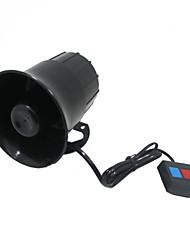 klaxon à trois tons alarme super-forte sirène scooter électrique 12V multi-ton modifiée corne de sirène