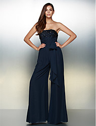 TS Couture® Formal Evening Dress A-line Strapless Floor-length Chiffon with Beading