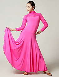 Imported Nylon Viscose wiht Lace Ballroom Dance Dresses for Women's Performance (More Colors)