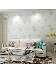 Arttop®Floral Wallpaper Contemporary Wall Covering , Non-woven Paper vogue Soundproof Non-Woven Paper