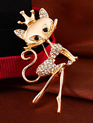 "Fashion Elegant ""Opal "" Rhinestone Alloy Banquet Party  Ms. brooch For Woman&Lady"
