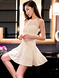 Women's Perspective Halter Sexy Chiffon Dress