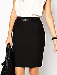 Women's Fashion All Match Solid OL One Step Skirt More Colors