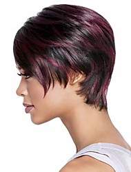 Hot Short Straight Ladies' Synthetic Hair Mix Color Part Wigs