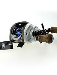 DMK DM120RF-X 14 Bearing Baitcast Fishing Reel Gear Ratio 7.0:1 Max Drag 5kg Left Handle Centrifugal Brake Carbon Body