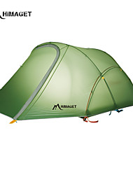 HIMAGET Brand 2 Person Tent  DAC Pole YKK Zipper 1.7Kg Double Layer 40D Silicone Nylon Ultralight Camping Tent