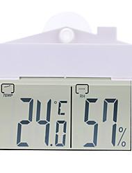 -9 ~ 50 ° C Mini-Indoor-Outdoor-digitale Temperaturfeuchtemesser Thermometer Hygrometer mit Saugnapf