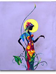 Ручная роспись ЛюдиКлассика 1 панель Холст Hang-роспись маслом For Украшение дома