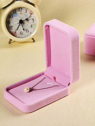 Chic Pink Square Shape Jewelry Box For Women