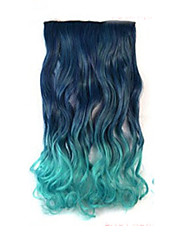 High Temperature Resistance Two-tone 26 Inch Long Curly 5 Clip Hairpiece Extension Hot Sale.