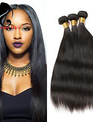 3Bundles cabelo humano cabelo reto 8-26inch cabelo peruano cor natural virgem tece