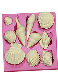 3d marine shell animal moules à gâteaux en silicone Fondant moule chocolat sm-091