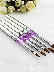5 pcs Akrilik gel uv, nail art Desain pena, polonês Lukisan Sikat kit manicure alat