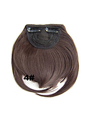 Most Popular New Arrival Clip in Synthetic Bang with Full Bang Medium Brown Color