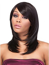 Natural Fascinating Human Virgin Remy Hand Tied-Top Capless Hair Wigs for African American Women