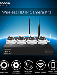 Szsinocam®Mini Metal Dome 4CH 720P 1.0MP WIFI NVR Kits,No Need To Set, You Can  The Image,Support Mobile phone P2P.