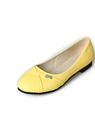 Women's Shoes Flat Heel Comfort / Round Toe Flats Wedding / Outdoor / Dress / Casual Black / Yellow / Red / White
