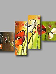 """готовы повесить протянутой рукой роспись масляной живописи 64 «x44"""" холст стены искусства современных Красные маки цветы зеленые"""