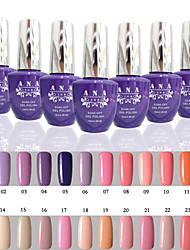 1 pz ana 192 colori chiodo gelpolish di arte del chiodo del gel si impregna fuori dal polacco UV 15ml 1-24