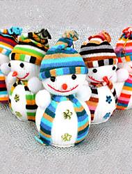 alegre decoración de navidad muñeco de nieve muñeco de espuma (color al azar)