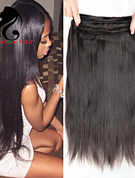 3Bundles cabelo humano cabelo reto 8-26inch cabelo malaio cor natural virgem tece