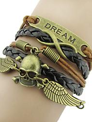 Bracelet Bracelets Wrap Alliage / Cuir Quotidien / Décontracté / Sports Bijoux Cadeau Brun / Cuivré,1pc