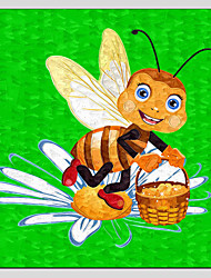 Children Oil Paintings Cute Honey bee Style,Canvas Material With Wooden Stretcher Ready To Hang SIZE:70*70CM.