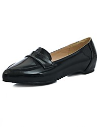 Girls' Shoes Outdoor / Party & Evening / Athletic / Dress / Casual Round Toe Leatherette Flats Black / Brown / Green /